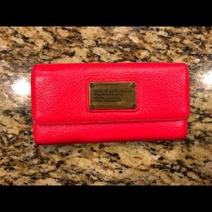 Marc Jacobs Hot Pink Tori Fold Wallet